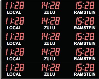 Custom Digital Wall Clock Led Time Zone Clock Digital