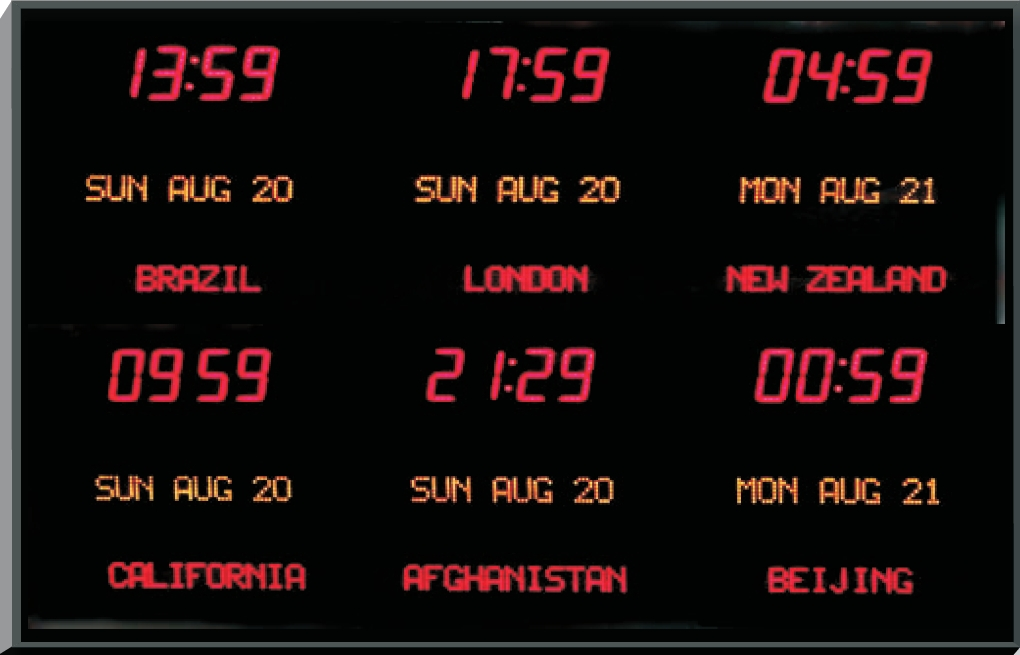 Custom Digital Wall Clock Page 4 Of 6 Led Time Zone