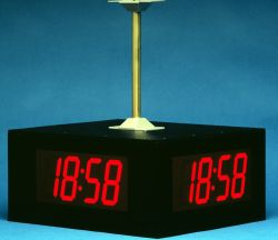 Quad Sided Digital Clocks Digital Display Systems