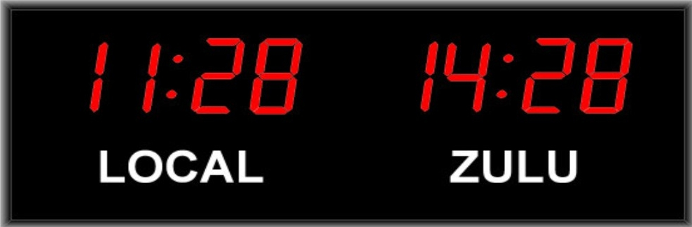 2 Zone Digital Wall Clock | Time Zone Clocks from Digital Display