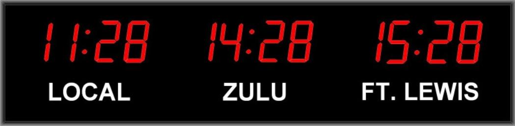3 Zone Digital Wall Clock Digital Display Systems