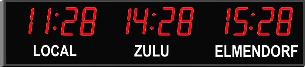 3 Zone Digital Wall Clock | Time Zone Clocks from Digital