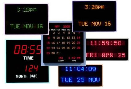 Calendar Clocks | Digital Clocks | DDS