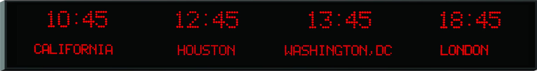 4 Zone Digital Wall Clock Dot Matrix Clocks Digital Display Systems