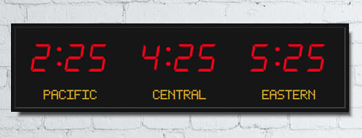 Time Zone Clocks Amp Led Digital Wall Clocks From Digital