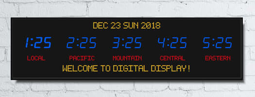 bar time zone clocks programmable electronic lettering with date and message board