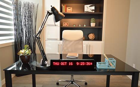 DAC-92407-D Desk Calendar Clock
