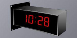 BSA-42425-2W Wall Double Sided Clock - 4 Digit