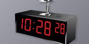BSA-62440-2C Ceiling Double Sided Clock - 6 Digit