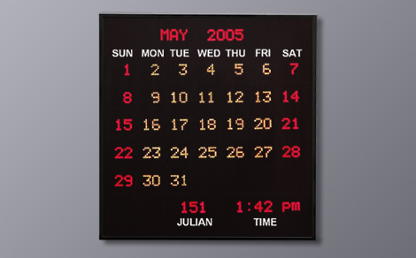 DAC-312407 Full Month Calendar Clock