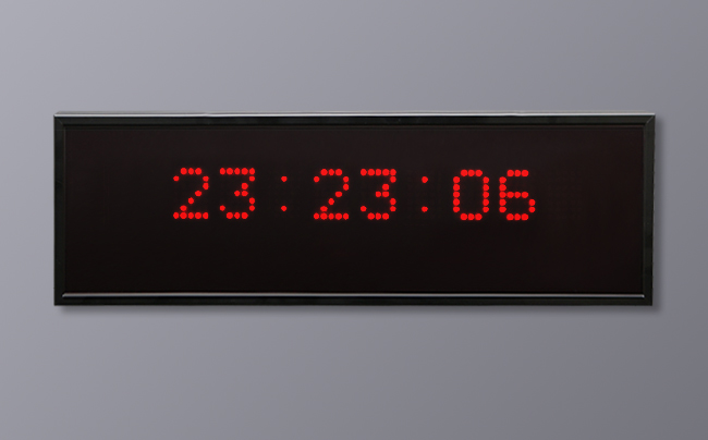 Multi LED Display - 6 Digit 24 Hour Time