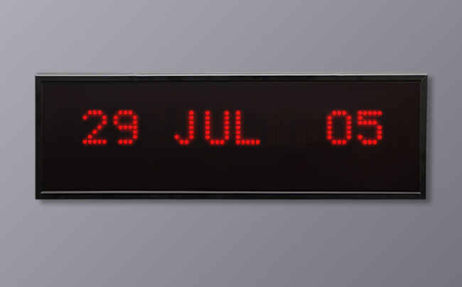 Multi LED Display - Day Month Year Format